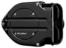 Kuryakyn 9987 Hypercharger Blood Groove Design Air Cleaner Black for Harley