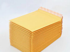 10X Brown Yellow  Kraft Bubble Envelopes Padded Mailers Shipping Self-Seal Bags