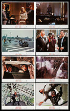 A VIEW TO A KILL ROGER MOORE AS JAMES BOND 1985 LOBBY CARD SET OF 8 NEAR MINT