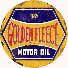 Reproduction Golden Fleece Motor Oil Sign 14 Round