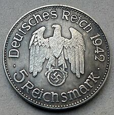 ADOLF HITLER 5 REICHSMARK 1942 A GERMAN COIN THIRD REICH WW2