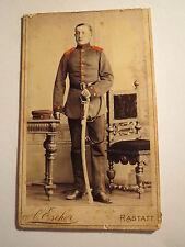 Rastatt - Karl Huber als Soldat in Uniform - Regiment Nr. 30 koloriert / CDV