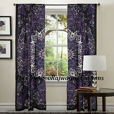 Peacock Indian Mandala Star Curtains, Tapestry Drapes, Window Treatment Bohemian