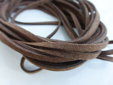 5 Metres x 3mm Dark Chocolate Brown Faux Imitation Suede Cord Beading Necklace