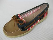 Sperry Topsider Womens Shoes NEW $88 Angelfish Linen Breton Stripe Mesh 6.5 M