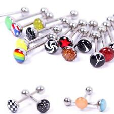 Metal Tongue Rings Steel Bars Barbells Funny Nasty Wording Logo Lot of 30  Chic