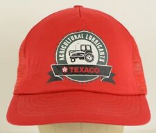 Agricultural Lubricants Texaco Oil Mesh Trucker Baseball Hat Cap Snapback AS IS