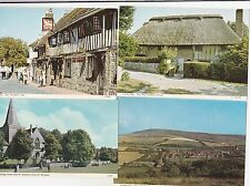 4 Postcards ALFRISTON clergy house, george inn, windover hill, andrews church