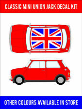 Classic Mini Union Jack Roof Decal Kit Cooper Racing Vinyl Graphics NEW