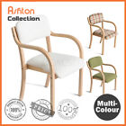 Brand New PU Leather Fabric Wooden Dining Table Chair Cafe Kitchen Armchair