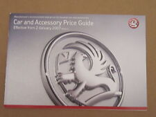 Vauxhall Car and Accessory Price Guide January 2007 Edition 2 Brochure