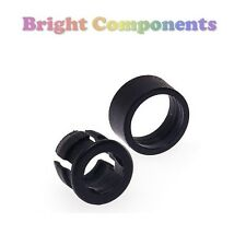 20x 3mm LED Bezel Clip Holder Mount (Black) - With Retainer - 1st CLASS POST