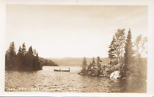 Carte Photo Lac des Iles ST-ÉMILE Quebec Canada 1946-48 Real Photo Postcard