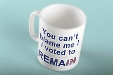 I Voted Remain In The Referendum Brexit Novelty Mug Cant Blame Me