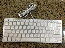 Original Apple Aluminum Short Wired USB Keyboard - Russian Version MC110R/S