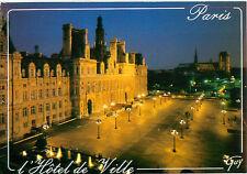 Paris France Hotel de Ville Night Scene Ses Merveilles   Postcard  # 6788