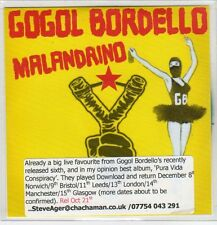 (EP841) Gogol Bordello, Malandrino - DJ CD