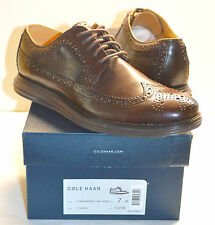 New $248 Cole Haan Nike Lunargrand Leather Wingtip T MORO Brown sz 7 M RARE