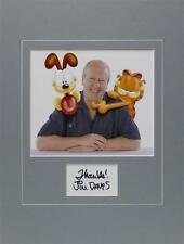 **JIM DAVIS SIGNED PHOTO AUTHENTIC AUTOGRAPH GARFIELD ODIE COMIC DISPLAY LOOK**
