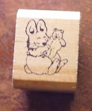 RARE Rosemary Wells MORRIS RABBIT Rubber Stamp KIDSTAMPS 1987
