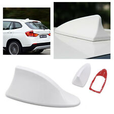 Universal Car Auto Roof Radio AM/FM Shark Fin Style Antenna Aerial Signal White