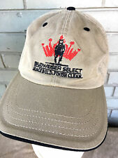 Budweiser Select Race Bold Horse Beer Baseball Cap Hat Clean Adjustable