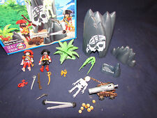 Playmobil 5808 Retired  Pirate Skull Hideout 2007 COMPLETE IN BOX!