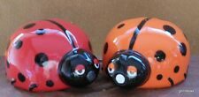 """New Magnetic Ceramic  Salt and Pepper Kissing Lady Bugs 3"""""""