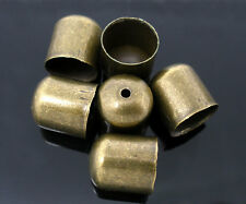 10 Bronze Blunt Necklace End Caps fit 9mm for Kumihimo Braiding Cord Bracelet