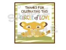 24 BABY SIMBA LION KING gift hang tags BABY SHOWER party favors Circle of Love