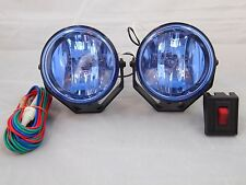 """2 4X4 OFF ROAD 3""""  WHITE UNIVERSAL DRIVING LAMPS FOG LIGHTS SET WIRING HARNESS"""
