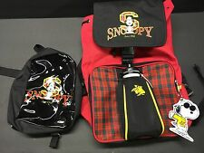 Rare !!! Snoopy backpack And Lunch Sack