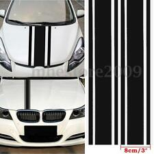 2pcs 72″x3″ DIY Black Car Body Vinyl Racing Stripe Pinstripe Decal Stickers New