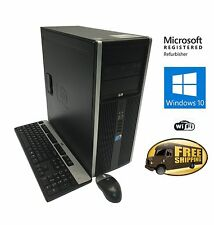 Fast HP Desktop PC Computer Tower Dual Core 8GB 2TB HDD WIFI Windows 10 Pro 64
