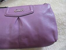 New COACH Ashley Patent Leather Large B4 Cherry, SV Wristlet Purse F48103 SVB5K