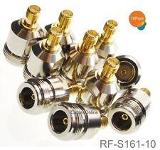 10-Pack N-Type Female to RP-SMA Reverse Polarity Female RF Adapters, RF-S161-10