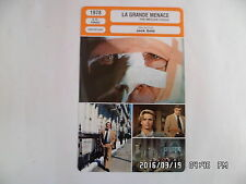 CARTE FICHE CINEMA 1978 LA GRANDE MENACE Richard Burton Lino Ventura Lee Remick