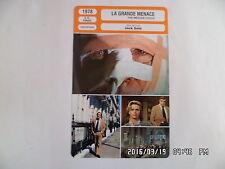 CARTE FICHE CINEMA 1978 LA GRANDE MENACE Richard Burton Lino Ventura Lee Remick