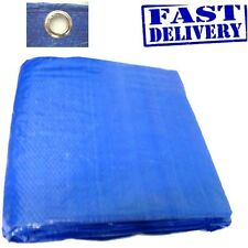 LARGE BLUE 12ft X 18ft TARPAULIN GROUND SHEET Waterproof Cover 3.5m x 5.4m