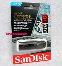 Original SanDisk 32G Cruzer Extreme CZ80 32GB USB 3.0 Flash Pen Drive 245MB/s