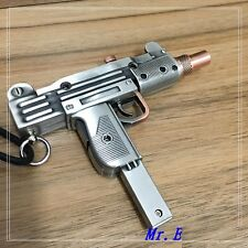 Israel UZI SGM Pistol Gun Shaped Refillable Lighter Uzi sub machine with Laser