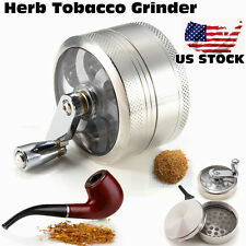 """2.5"""" Tobacco Grinder Aluminum Herb Spice Crusher Muller Mill Hand Crank 4 Parts"""