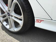 FORD ST Side skirts Spoiler Wing Stickers Fiesta Mondeo Focus ST LINE ST3 Xmas P