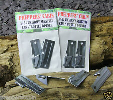 2x BRITISH ARMY P-51 SURVIVAL CAN / TIN / BOTTLE OPENER Bushcraft Camping Scouts