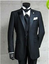 01 New Custom Design Groom Tuxedos Peak Lapel Groomsman Best Man Suits
