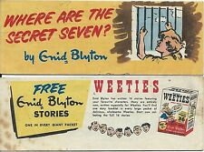 WEETIES AUSTRALIA CEREAL GIVEAWAY PROMO ENID BLYTON WHERE ARE THE SECRET 7 MINI