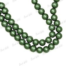 3mm 4mm 6mm 8mm 10mm 12mm 14mm Round Glass Pearl Spacer Beads 30 Colors