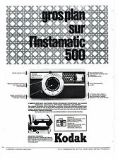 PUBLICITE ADVERTISING 054  1965   KODAK  appareil photo INSTAMATIC 500
