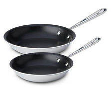 All-Clad Stainless Steel 8 & 10 Inch 2 Piece Nonstick Fry Pan Set