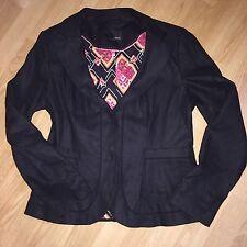 NEXT smart Black Blazer Suit Jacket Women's Work Office Clothes Size 10 VGC